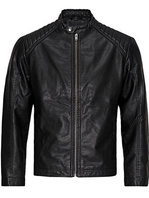 BIKER -IMMITATED LEATHER JACKET