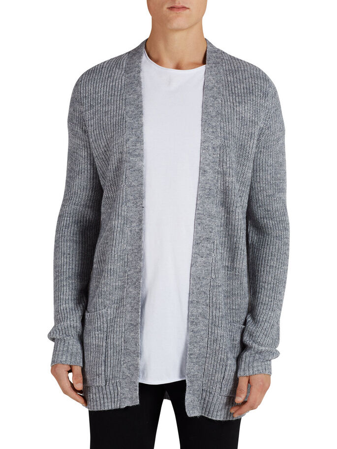 ALSIDIG CARDIGAN, Light Grey Melange, large
