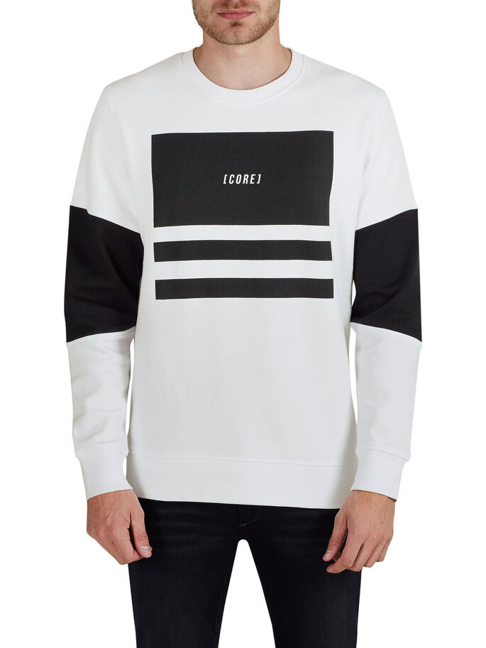 GRAFISCH SWEATSHIRT, White, large