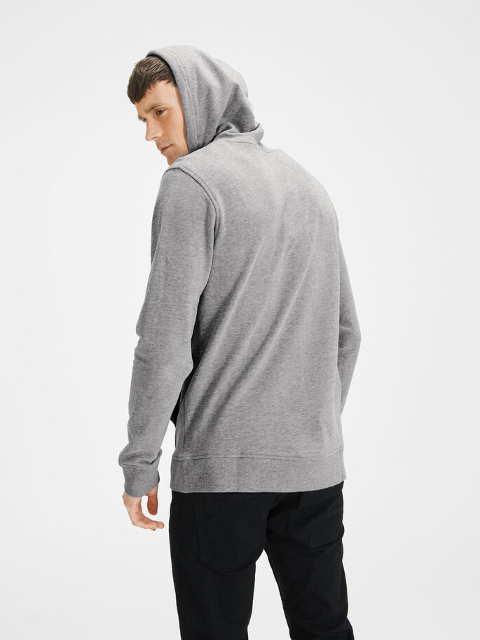 KAPUZEN- HOODIE, Light Grey Melange, large