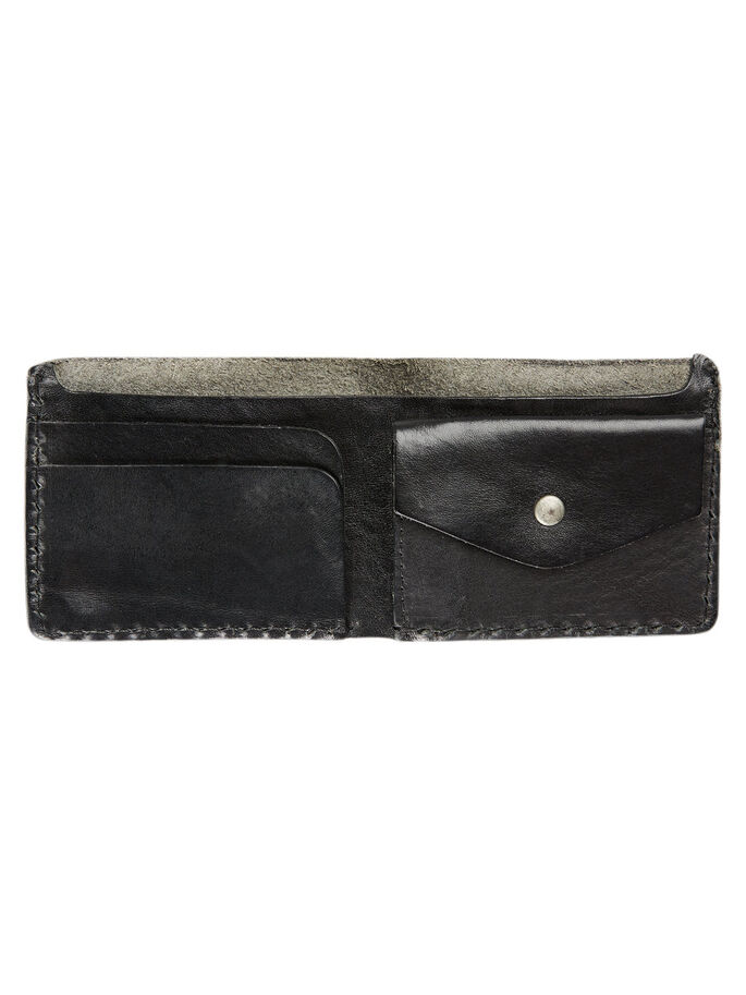 GENUINE LEATHER WALLET, Black, large