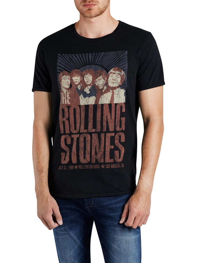 ROLLING STONES T-SHIRT, Caviar, large