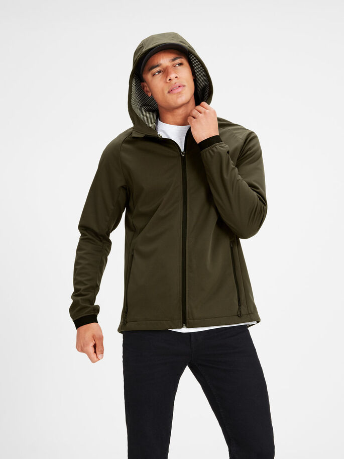 FLEXSHELL- JACKE, Forest Night, large