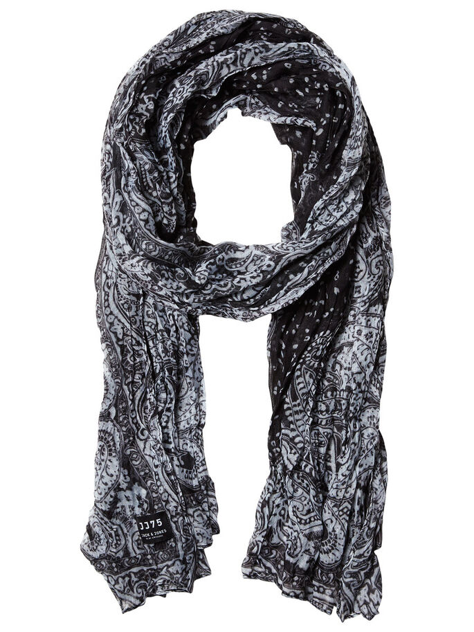 PAISLEY SCARF, Black, large