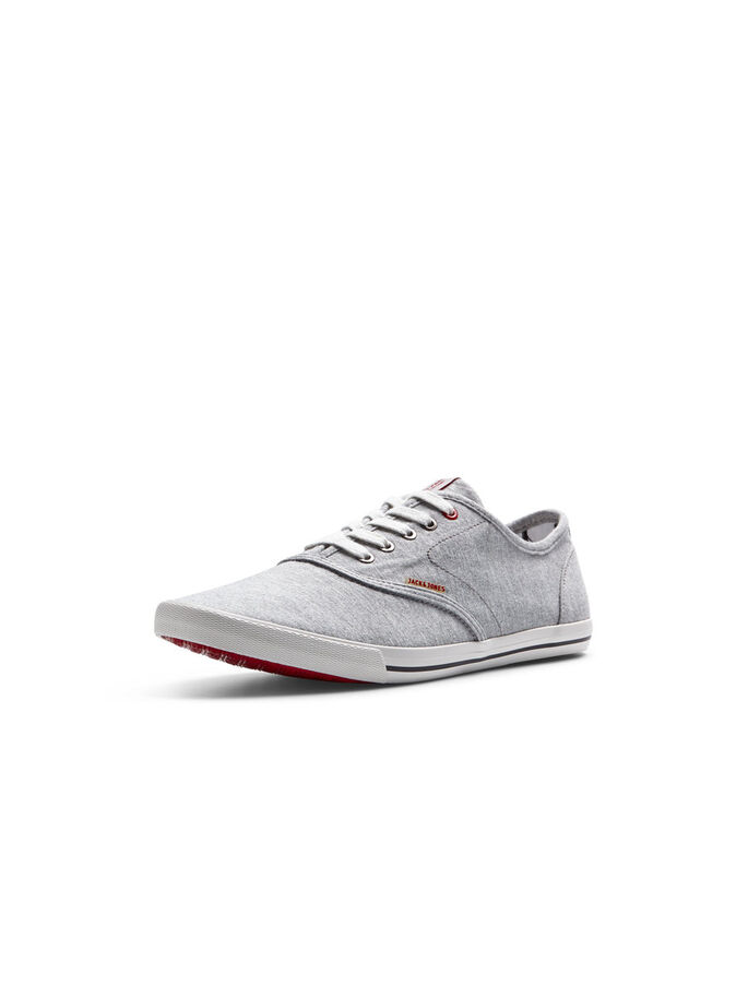 KANVAS SNEAKERS, Light Grey Melange, large