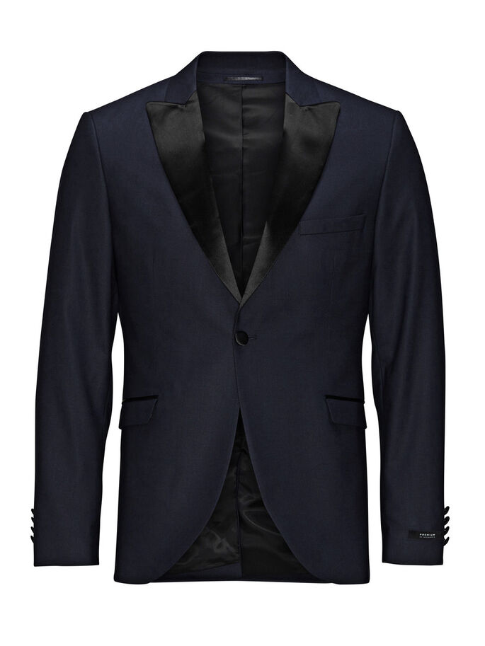 SMOKING BLAZER, Dark Navy, large