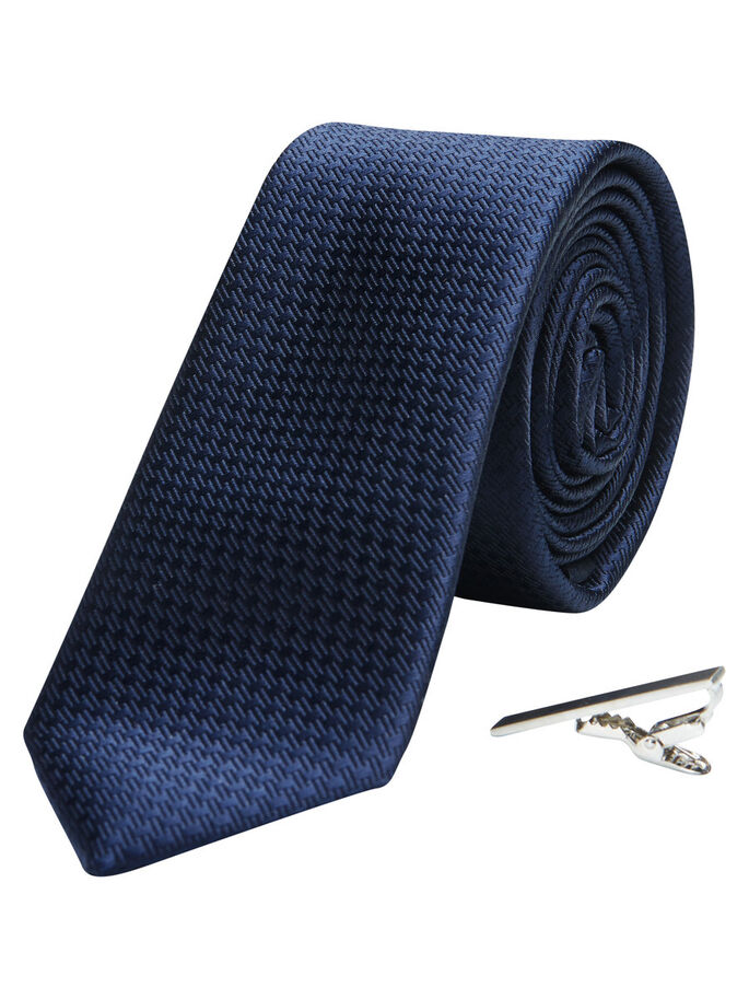 TIE & TIE BAR GIFT SET, Navy Blazer, large