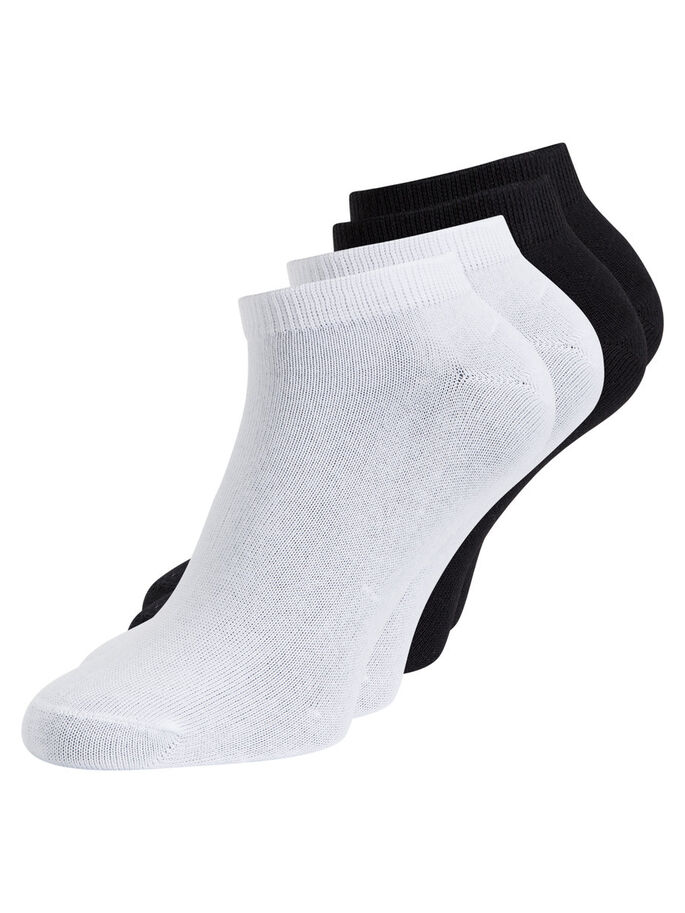 4ER-PACK KURZE BASIC- SOCKEN, Black, large