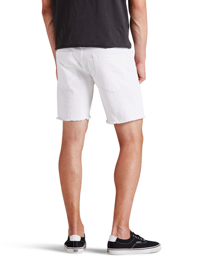 RICK ORIGINAL DENIM SHORTS, White, large