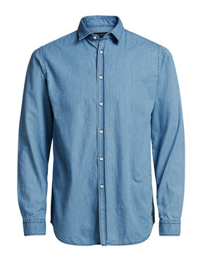 MINIMAL DENIM LONG SLEEVED SHIRT