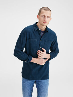 HALF PLACKET LONG SLEEVED SHIRT
