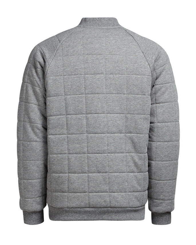 GEFÜTTERTE JACKE, Light Grey Melange, large