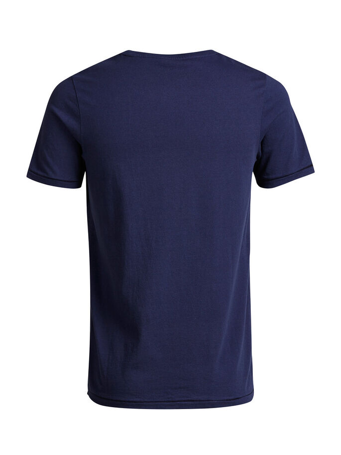 BASIC ONE POCKET T-SHIRT, Mood Indigo, large