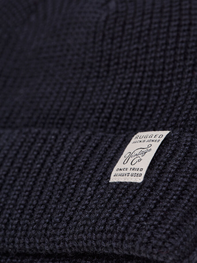 RUGGED BEANIE, Caviar, large
