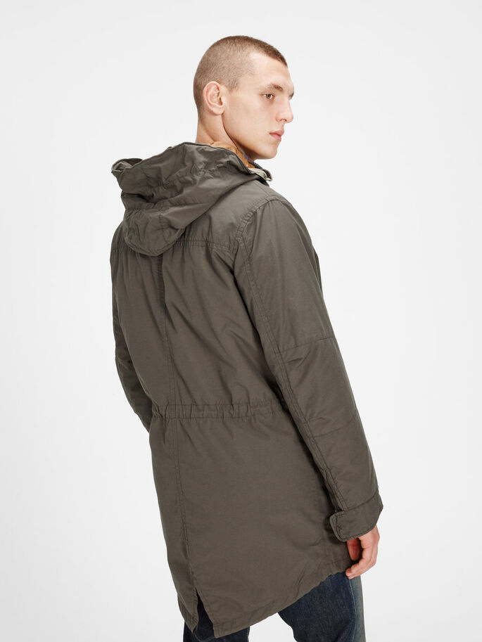 PARKA QUEUE DE POISSON PARKA, Black Olive, large