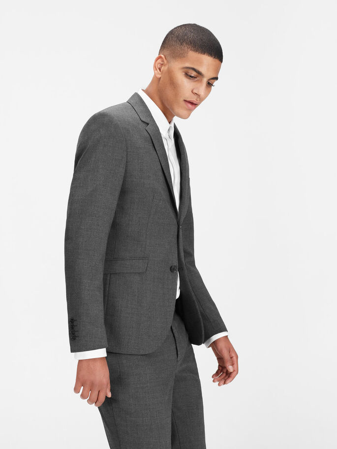 KLASSISK REGULAR FIT BLAZER, Dark Grey, large