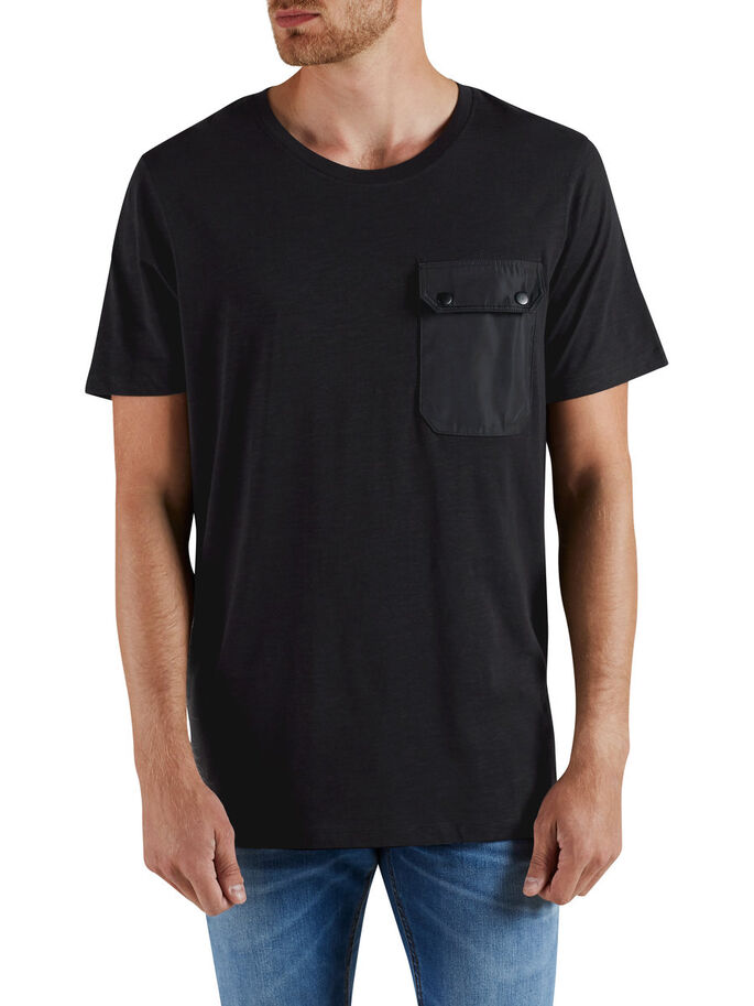 OVERSIZE CAMISETA, Black, large