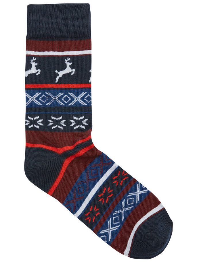 X-MAS SOCKS +TRUNKS GIFT SET GIFT SET, Navy Blazer, large