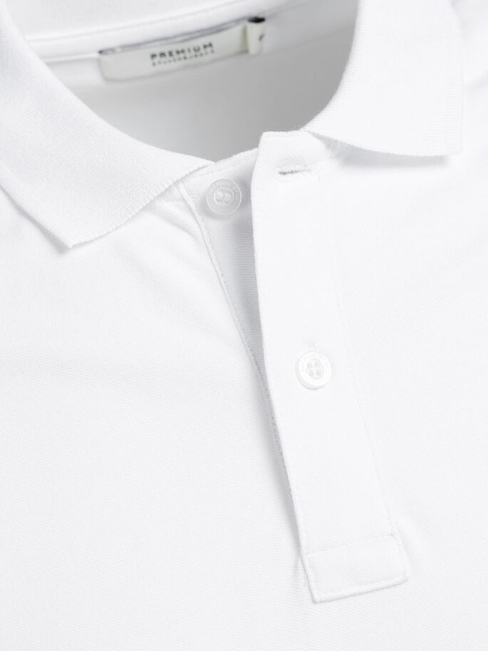 CLASSIC POLO SHIRT, White, large