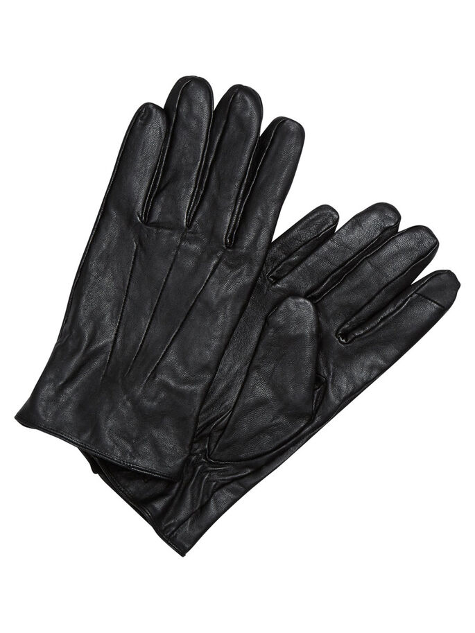 CUIR GANTS, Black, large