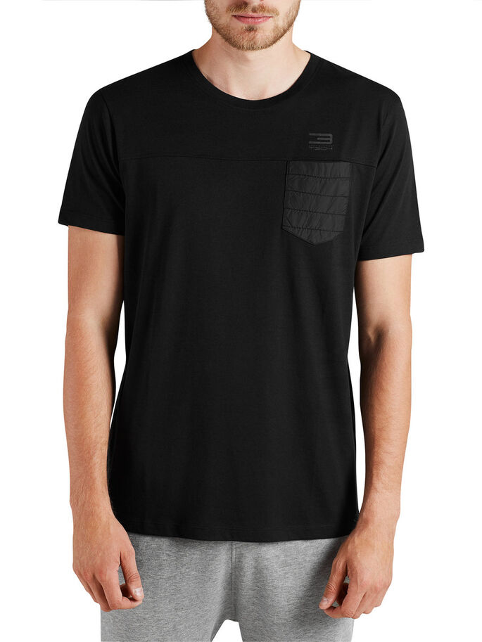HYBRIDISCH T-SHIRT, Black, large