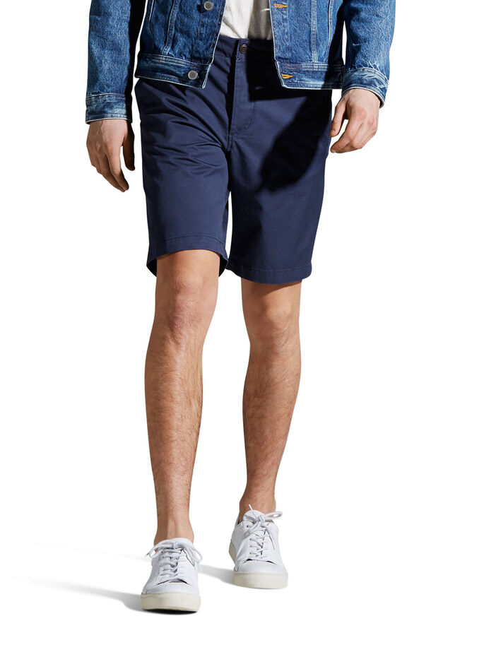 GRAHAM AKM 202 - SHORTS CHINOS, Mood Indigo, large
