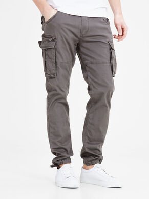 PAUL CHOP WW CHARCOAL GREY CARGO PANTS