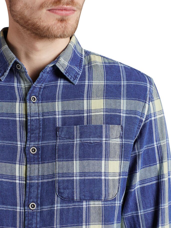 CLASSIC PLAID CASUAL SHIRT, Total Eclipse, large
