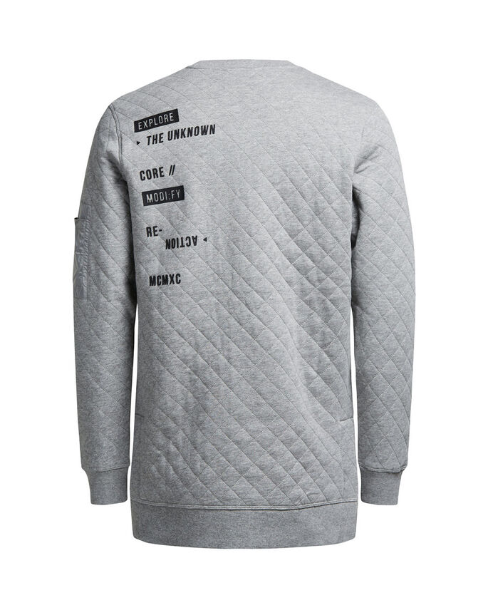DÉTAILS SWEAT-SHIRT, Light Grey Melange, large