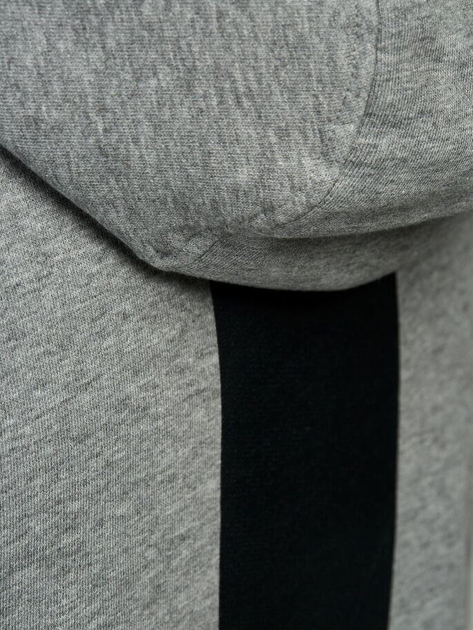 DETAILLIERTER HOODIE, Light Grey Melange, large