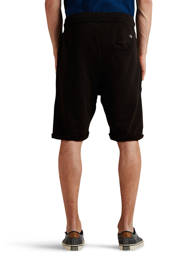 ROUGH SWEAT SHORTS, Black, large