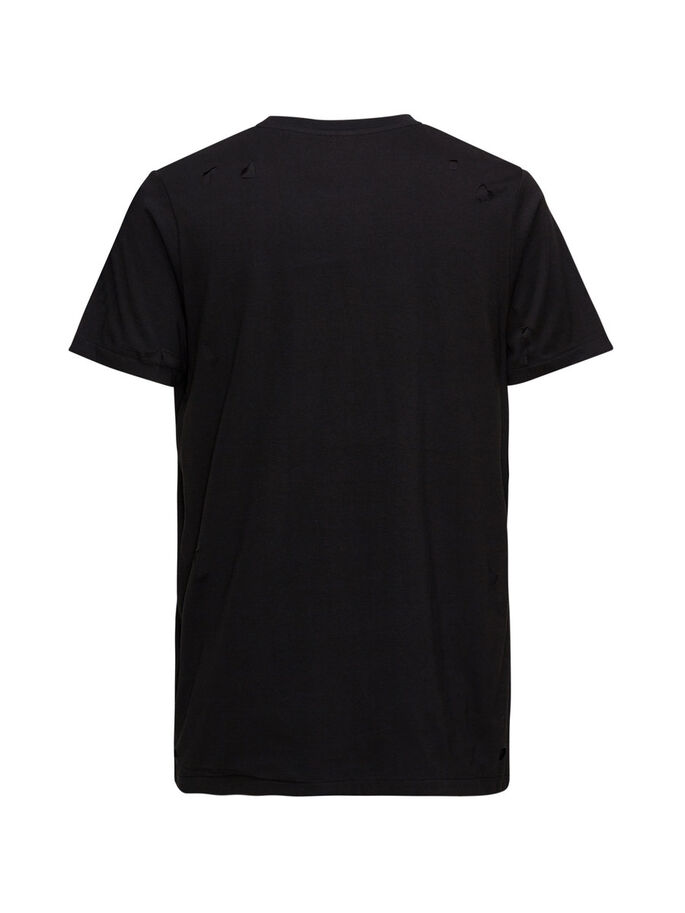 ANDY TANKMAR DOUBLE LAYER T-SHIRT, Black, large