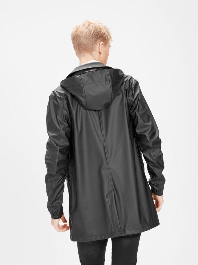WATERPROOF RAIN JACKET, Black, large
