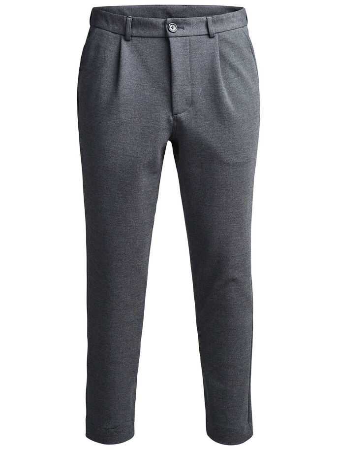 TAILORED LOOK SWEAT PANTS, Dark Grey Melange, large