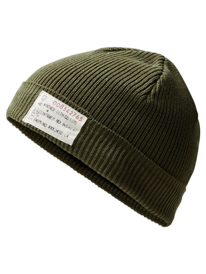 RUGGED BEANIE, Olive Night, large