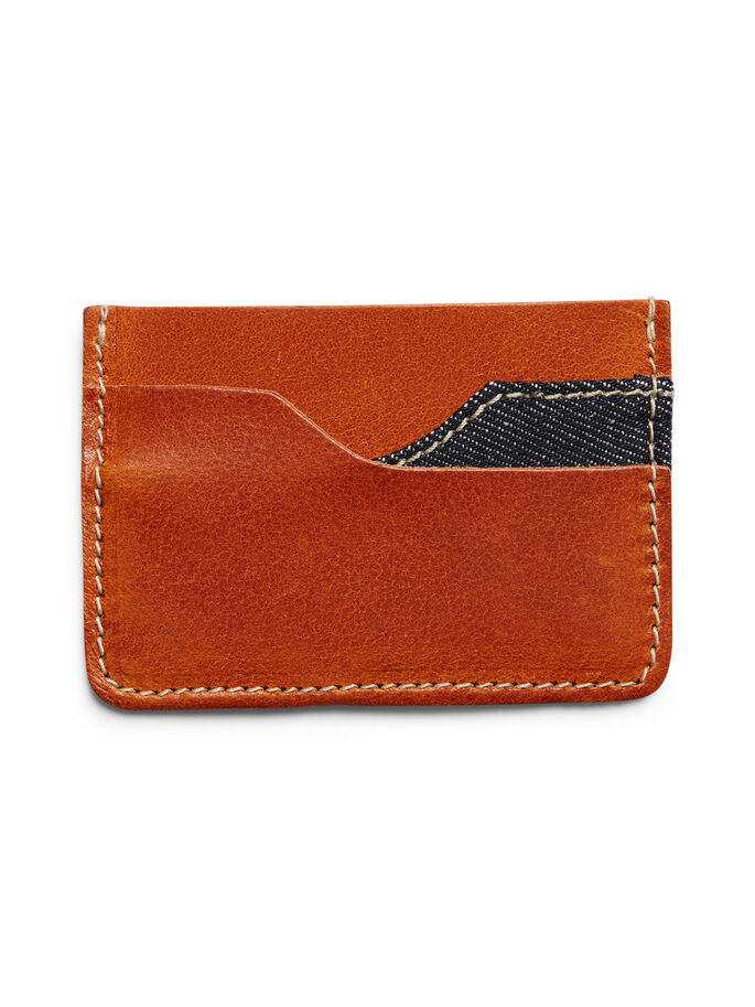 LEATHER CREDIT CARD HOLDER, Mocha Bisque, large