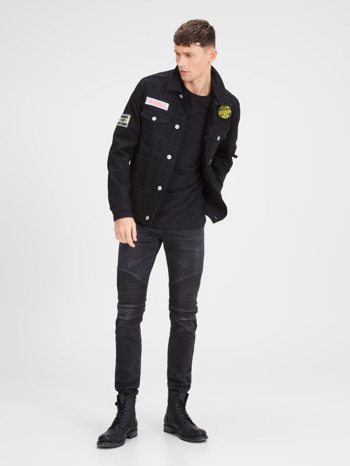 JEAN JACK ET AKM 199 VESTE, Black Denim, large