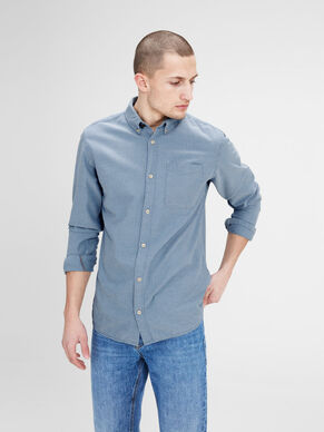 MICRO PATTERNED LONG SLEEVED SHIRT