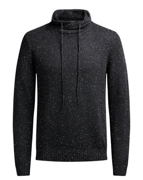 HOODED KNITTED PULLOVER
