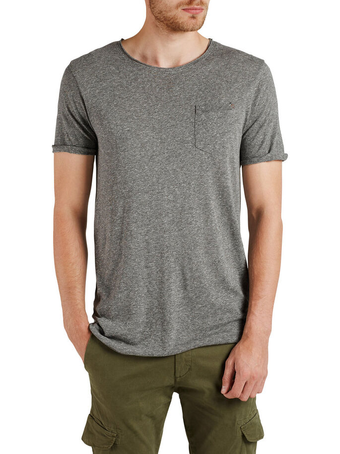 MELANGE T-SKJORTE, Light Grey Melange, large
