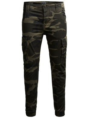 PAUL WARNER AKM 280 CAMO CARGO PANTS