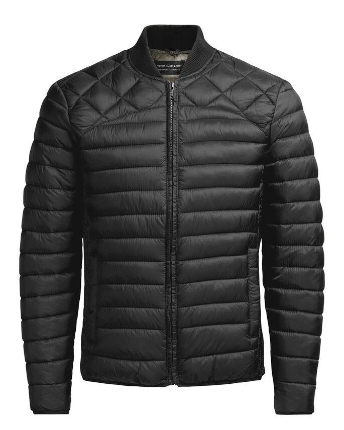NYLON PUFFER JACKET, Black, large