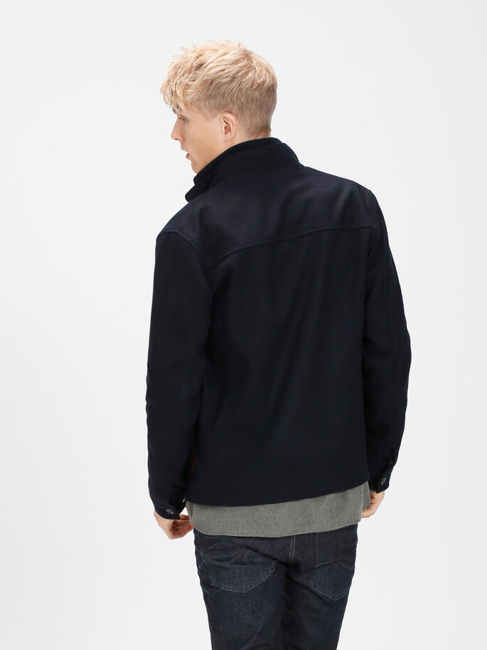 WOOL BLEND JACKET, Dark Navy, large