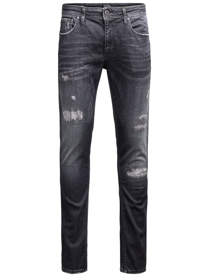 LIAM ORIGINAL 989 SKINNY FIT JEANS, Black Denim, large