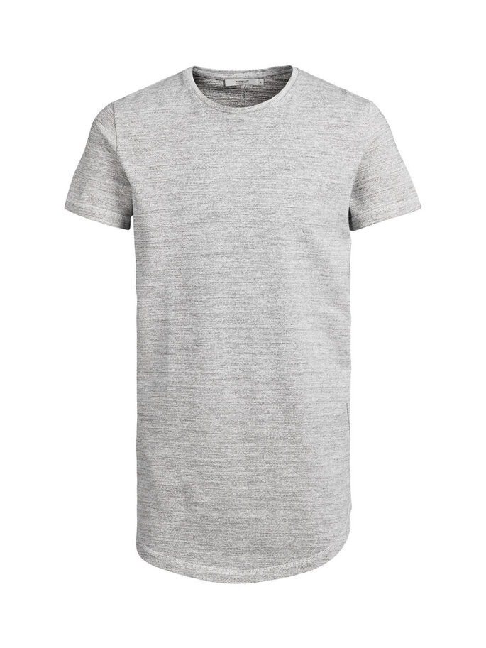 LONGLINE T-SHIRT, White, large