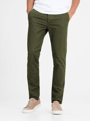 MARCO ENZO WW OLIVE NIGHT SLIM FIT CHINOS