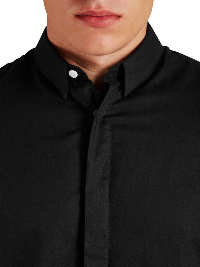 EXTRA LENGHT CASUAL SHIRT, Black, large
