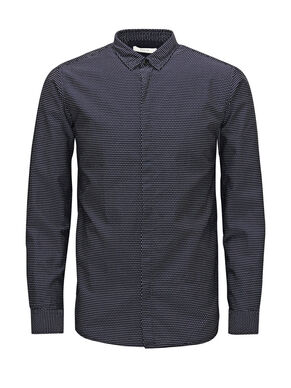PATTERNED BUSINESS SHIRT