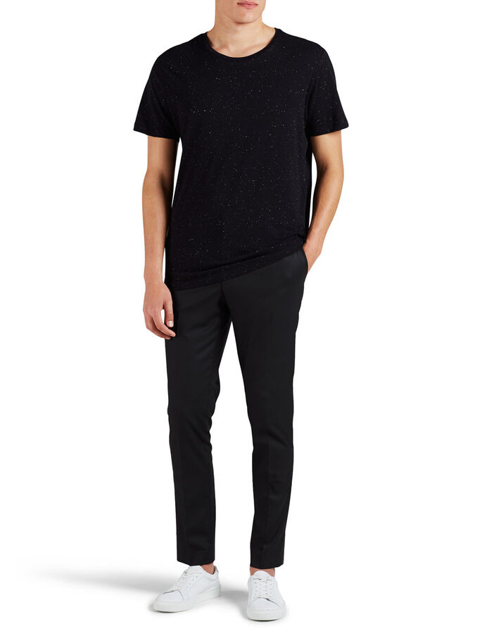 REGULAR FIT T-SKJORTE, Black, large