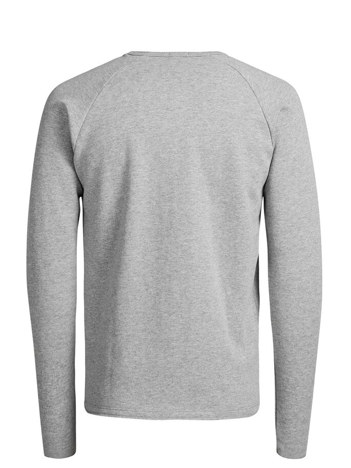 CASUAL SWEATSHIRT, Grey Melange, large